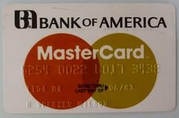 USA - Credit Card - Master Card - Bank Of America - Exp 06/83 - Used - Cartes De Crédit (expiration Min. 10 Ans)
