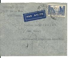 Lettre Avec N°261 Port De La Rochelle : Lyon - Buenos Aires / Argentine , Cote:35euro - Covers & Documents