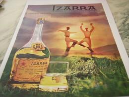 ANCIENNE PUBLICITE LIQUEUR IZARRA 1963 - Alcohols