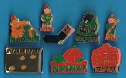 8 PIN'S //  ** LOGOS / NAFNAF ** - Pin's