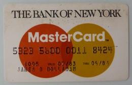 USA - Credit Card - Master Card - Bank Of New York - Exp 06/84 - Used - Cartes De Crédit (expiration Min. 10 Ans)