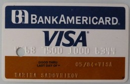 USA - Credit Card - VISA - Bank Americard - Exp 05/84 - Used - Cartes De Crédit (expiration Min. 10 Ans)
