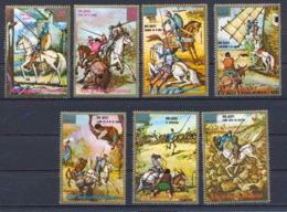Guinée équatoriale Guinea 078 N°551/557 Cheval Chevaux Horse Horses Don Quichotte Serie Complète MNH ** - Guinée Equatoriale