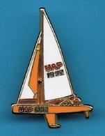 PIN'S //  ** BATEAU / Gd VOILIER / U A P // 1992 ** . (Decat Paris) - Sailing, Yachting