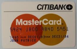 USA - Credit Card - MasterCard - Citibank - Exp 31/84 - Used - Cartes De Crédit (expiration Min. 10 Ans)