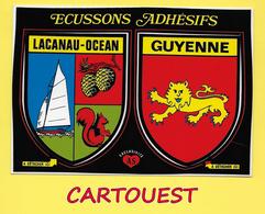 CPM BLASON ADHESIF VILLES ET PROVINCES DE FRANCE LACANAU OCEAN - GUYENNE   ֎ Autocollant Ville ARTAUD - France