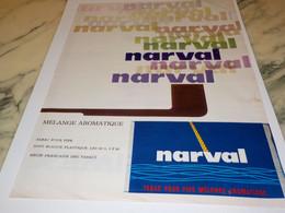 ANCIENNE PUBLICITE MELANGE  TABAC NARVAL 1963 - Tabac (objets Liés)