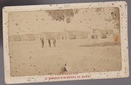 Militaire - Pontanezenne - Quartier D'infanterie De Marine - Photo Originale Circa1890 - Photos