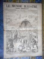 LE MONDE ILLUSTRE 18/05/1878 PARIS EXPOSITION UNIVERSELLE TYPE TUNISIEN MORT MARCEAU J P LAURENS CHINOIS HIPPODROME - Periódicos