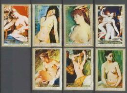 Guinée équatoriale Guinea 181 N°267/273 Tableau Painting Nus Nudes MNH ** - Guinée Equatoriale