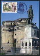 FRANCE (2009) - Carte Maximum Card - Roy René 1er D'Anjou, King René, Aix-en-Provence, Angers - Cartas Máxima