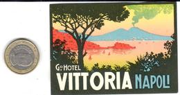ETIQUETA DE HOTEL  -GRAND HOTEL VITTORIA  -NAPOLI - Hotel Labels