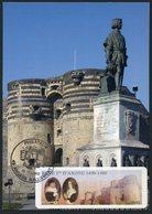FRANCE (2009) - Carte Maximum Card - ATM LISA - Roy René 1er D'Anjou, King René, Angers, Chateau, Castle - Cartas Máxima