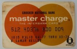 USA - Credit Card - MasterCard - Crocker National Bank - Exp 03/79 - Used - Cartes De Crédit (expiration Min. 10 Ans)