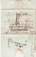Lettre LSC Marque Postale Verso Déboursé DEB 31 LECTOURE Gers Recto 10 CASTELNAUDARY ( Rouge ) Aude + 30 TOULOUSE - Storia Postale