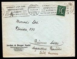 A6253) DR Infla Brief Hamburg 14.11.21 N. Buenos Aires / Argentinien Selt Stempel OS - Deutschland