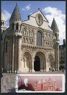 FRANCE (2009) - Carte Maximum Card - ATM LISA - Eugène Vaillé, Poitiers Philaouest, Eglise Nôtre-Dame-la-Grande / Church - Cartas Máxima