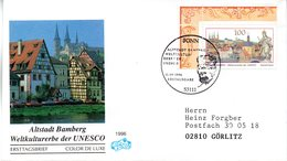 "BRD Schmuck-FDC ""Altstadt Bamberg"" Mi.1881 ESSt 12.9.1996 BONN - FDC: Buste"