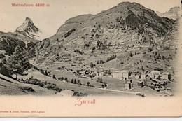 Suisse VS Valais Zermatt Matterhorn 4482 M - VS Valais