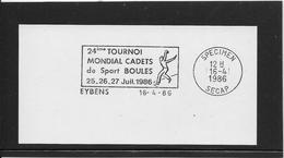 Thème Pétanque  - Jeux Olympiques - Sports - Flamme Secap SPECIMEN - Bowls