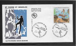 Thème Plongée  - Jeux Olympiques - Sports - Enveloppe - Tauchen