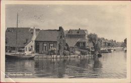 Oude Postkaart Ansichtkaart Oosterkade Sneek Friesland ZELDZAAM (kreukje) - Sneek