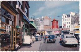 Paris : SIMCA ARONDE 1300, PANHARD DYNA Z TAXI, RENAULT 4CV - Le Moulin-Rouge - (1961) - Passenger Cars