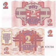Latvia 1992 - 2 Rubli - Pick 36 UNC - Letland