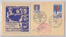 Noisy-le-Grand Cerny Villeneuve-sur-Auvers Enveloppe Dédicace Commémoration Aumont-Thiéville Aérostation Ballon Zodiac - Autres (Air)