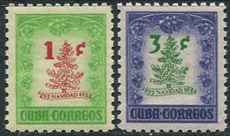 Cuba  1953. Michel# 356/57 VF/MNH. Christmas (Ts15) - Unused Stamps