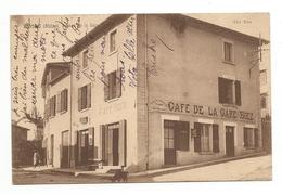 CPA 69 Monsols Rue De La Gare  Café De La Gare - France