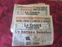 1990 LOT 62 REVUES JOURNAL SATIRIQUE CANARD ENCHAINE-MITTERRAND-GUERRE GOLFE-AFFAIRES-TONTON-SADAM HUSSEIN-ROCARD-JOSPIN - Politics