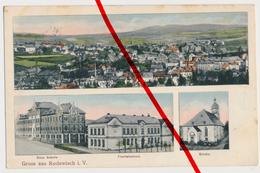 Rodewisch - Zwei Schulen Und Kirche - 1913 - Verlag E. Grunewald - Vogtland
