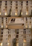 France - 90 Enveloppes 1er Jour - Illustration Impression à La Feuille D'or - Années 1983/84/85 - TBE - 1980-1989