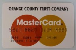 USA - Credit Card - MasterCard - Orange County Trust - Exp 09/85 - Used - Cartes De Crédit (expiration Min. 10 Ans)