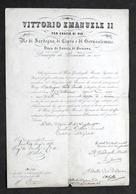 Regno Di Sardegna - Autografo Del Guardasigilli Giovanni De Foresta - 1858 - Autografi