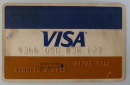 USA - Credit Card - VISA - Exp 01/85 - Used - Cartes De Crédit (expiration Min. 10 Ans)