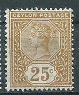 Timbre Ceylon Yvt 109 Neuf * - Ceylon (...-1947)