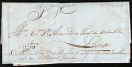 """1838. FIGUEIRO A LEIRIA. CARTA SERVICIO OFICIAL. MARCA """"FIGUEIRO"""" LINEAL TINTA ESCRIBIR. MUY INTERESANTE Y RARA. - 1862-1884: D. Luiz I."""