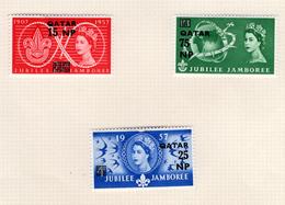 1957 - QATAR. -  Mi. Nr.  16/18 - LH - (CW4755.37) - Qatar