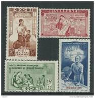 Indochine P.A. N° 20 / 23  XX  P.E.I.Q.I. La Série Des 4 Valeurs Sans Charnière, TB - Neufs