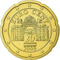 Autriche, 20 Euro Cent, 2009, SPL, Laiton, KM:3140 - Autriche