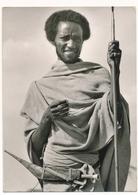 ETHIOPIA  Karayou Shepherd 1950s Old Real Photo Card - Afrique