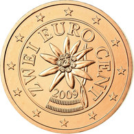 Autriche, 2 Euro Cent, 2009, SPL, Copper Plated Steel, KM:3083 - Autriche