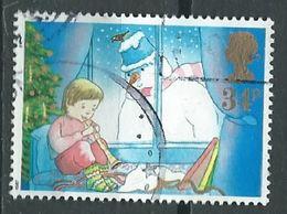 GROSSBRITANNIEN GRANDE BRETAGNE GB 1987 CHRISTMAS:CHILD PLAYING RECORDER AND SNOWMAN 34P SG 1379 SC 1200 MI 1130 YT 1292 - 1952-.... (Elisabeth II.)