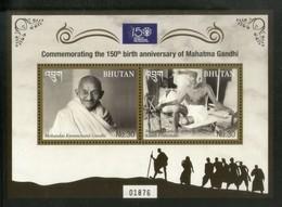 Bhutan 2019 Mahatma Gandhi Of India 150th Birth Anniversary M/s MNH # 6281 - Mahatma Gandhi
