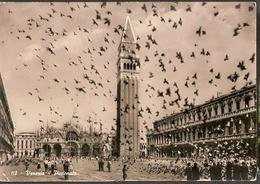 Italy & Circulated,  Piazza S Marco, Piccionata, Linha Do Estoril, Cascais Portugal 1958(110) - Monuments