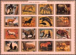 0128/ Umm Al Qiwain ** MNH Michel N° 1370 / 1385 Animaux - Animals Non Dentelé ** (imperforate) - Felini