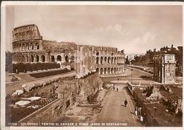 Italy & Circulated,  Roma, Arco Di Constantino E Colosseo, Masone Italy 1939 (195) - Monuments