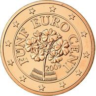 Autriche, 5 Euro Cent, 2009, SPL, Copper Plated Steel, KM:3084 - Autriche